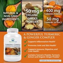 Load image into Gallery viewer, Turmeric Complex - 180 capsules