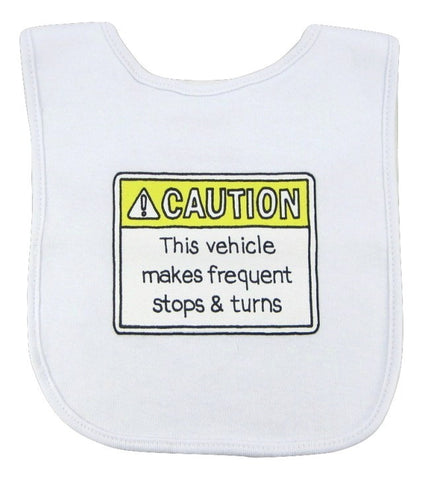 This Vehicle Makes Frequent Stops & Turns Bib