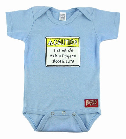 This Vehicle Makes Frequent Stops & Turns Onesie