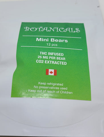 Botanicals Mini Bears 12 x 25mg THC