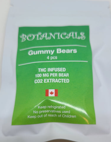Botanicals Gummy Bears 4 x 100mg THC