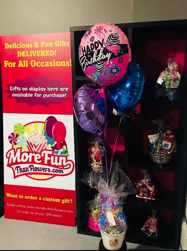 DELUXE BALLOONS BASKET GIFTS