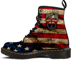 """Don't Tread On Me"" Women's Suede Boots [064017W-PPSS]"