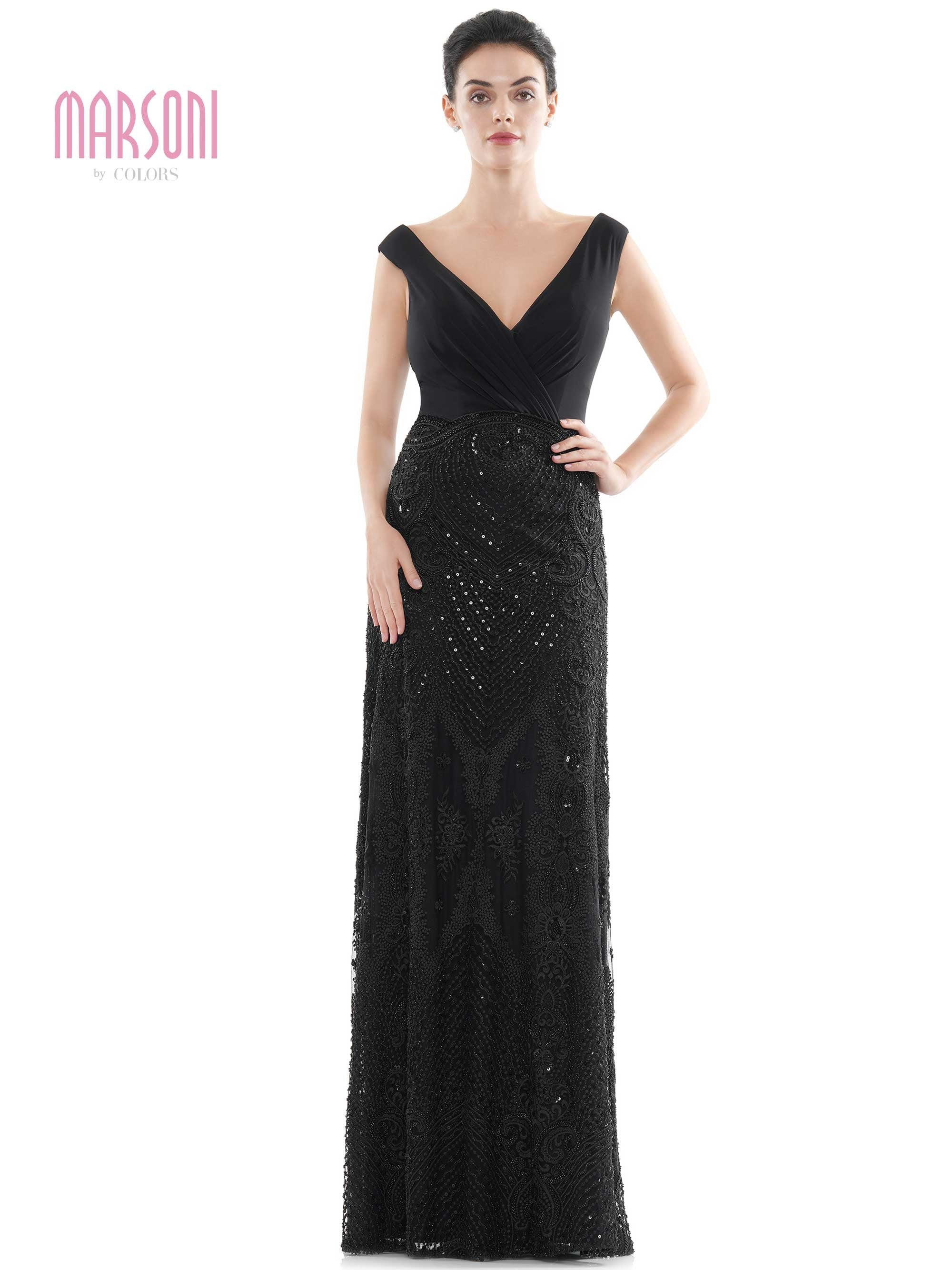 "46"" beaded embroidery evening dress with V neck chiffon ruched bodice"