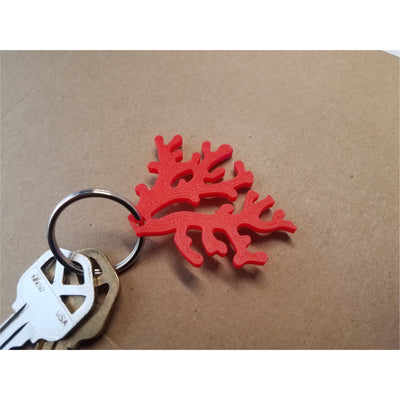 3D Printed Red Coral Keychain (Free When You Buy Coral)