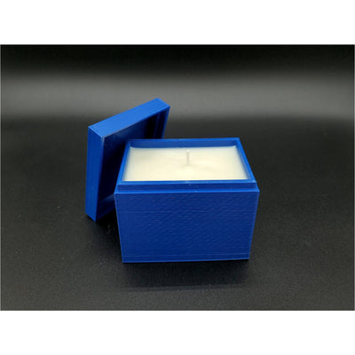 3D Printed Square Box w/ Lid Candle