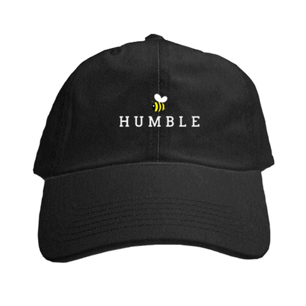 BEE Humble Dad Hat be humble bee Black dad cap hat One Messy Bun