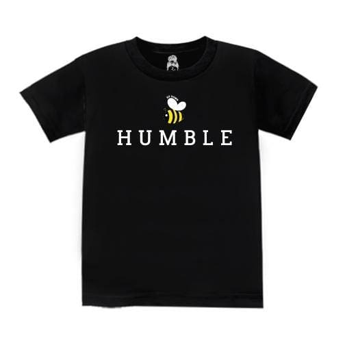 BEE Humble (Kids) Kids T-Shirt Black boy gangster rap girl Gray One Messy Bun