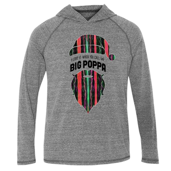 Big Poppa Hood Tee L/S T-Shirt b.i.g. biggie christmas coogi fleece One Messy Bun