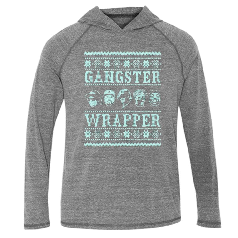 Gangster Wrapper Hood Tee L/S T-Shirt biggie christmas fleece gangsta gangster One Messy Bun