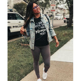Mommy Moves T-Shirt Black bodak cardi b dance Gray One Messy Bun