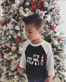 My Elf & I Raglan (Kids) Kids L/S Bey beyonce Black boy christmas One Messy Bun