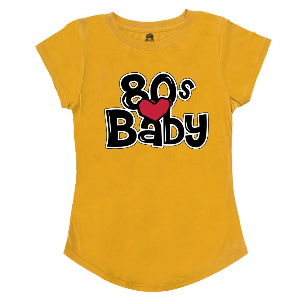 Poetic Scoop T-Shirt 80s Baby Blue Gold Janet Jackson One Messy Bun