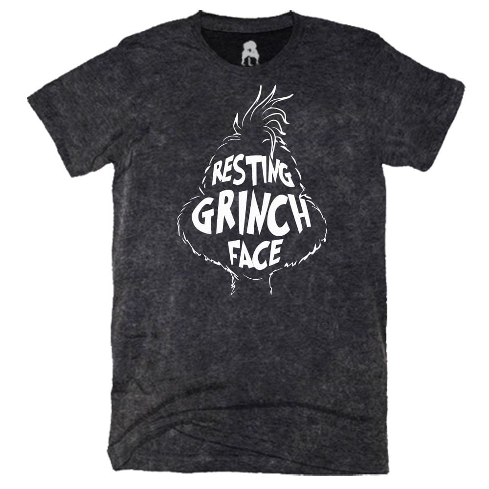 Resting Grinch Face T-Shirt acid Black christmas dr seuss grinch One Messy Bun