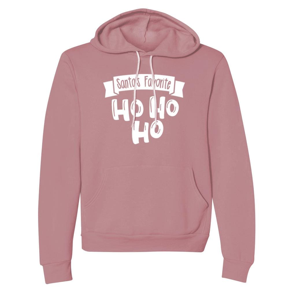 Santas Favorite Hoodie Christmas fleece Ho holiday hoodie One Messy Bun