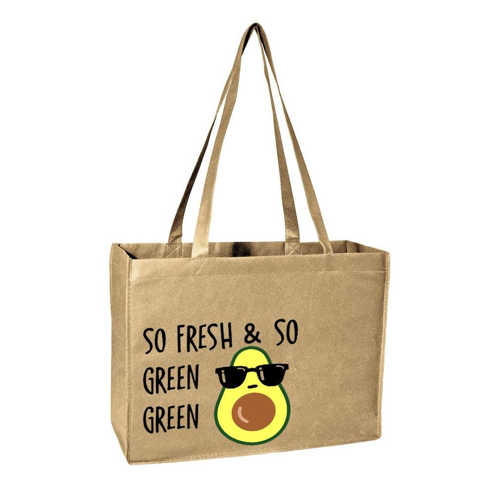 So Green Tote Bag Avocado bag Outkast re-usable reusable One Messy Bun