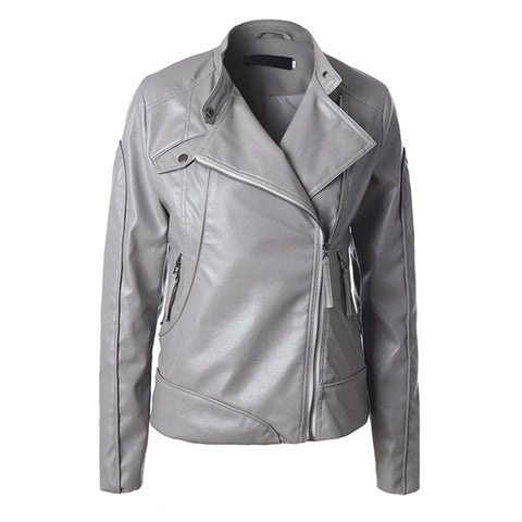 A modernly styled fitting jacket designed in soft leather with the modern lady in mind.