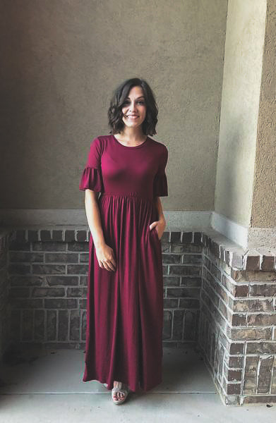 Bella Maxi in Burgundy