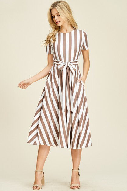 Autumn Stripe Dress