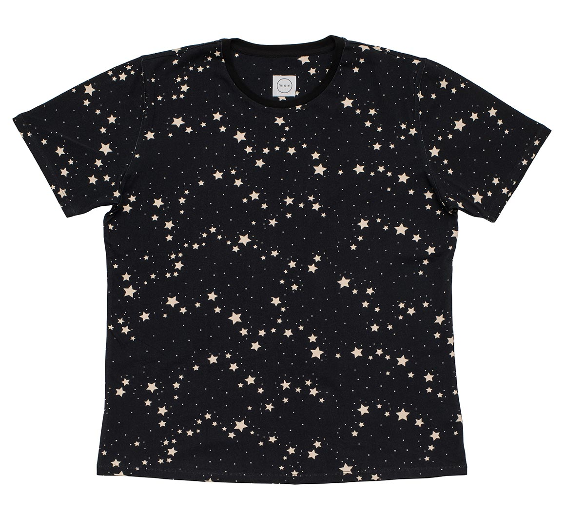 Stella Stars Black Base Unisex Pure Cotton Short Sleeve T-shirt