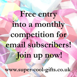 New Monthly Free Prize Draw for Email Subscribers!