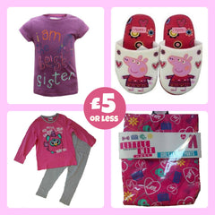 best sister t-shirt, peppa pig, slippers, furby, pyjamas, little mix, lounge pants