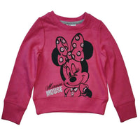 Girls Disney Minnie Mouse Pink Cream Blue Hoodie Jumper age 2 4 6 8 years