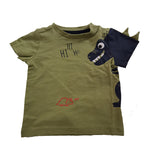 Dinosaur 100% Cotton T-shirt Top age 3/6m - 5/6 yrs green