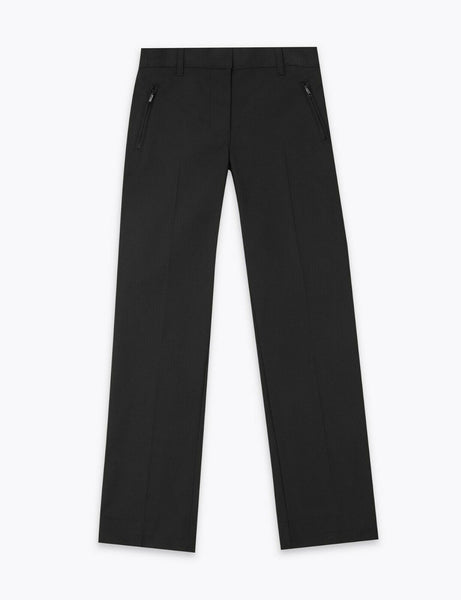 Girls EX M&S Black/Grey/Navy School Trousers Slim Leg Age 6-16 adj waist