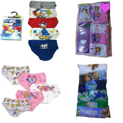 Boys Girls 5 pack Character Briefs age 1-12 yrs pants Disney Sofia Donald Duck
