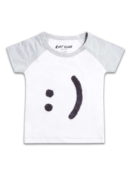 Boys Smiley Face Emoji T-shirt Top ages 2-8