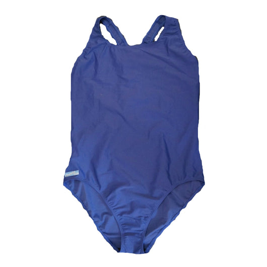 Ladies Plain Blue Swimsuit swimming costume Holiday 10 12 14 16 18 20
