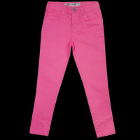Girls Neon Yellow Pink Blue Skinny Stretch Jeans age 3-13 years adjustable waist