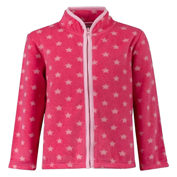 Girls Fleece Zip Cardigan Coat Jumper Pink stars age 5-14 years