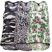 Ladies Light Loose Vest Top 3 designs size  S- XL 6-14 sports dance casual wear