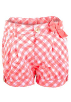 Girls Gingham Checked Shorts Neon age 1-4 years holiday summer