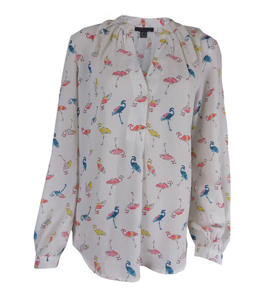 Ladies Flamingo Blouse Shirt 10 12 14 16 smart workwear