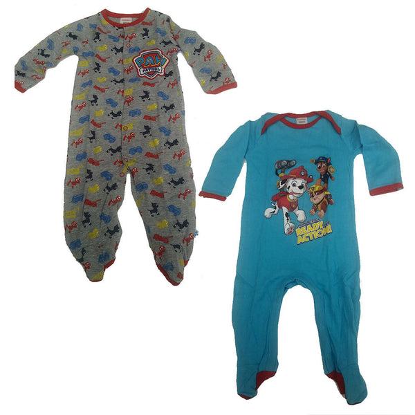 Baby Paw Patrol 2 Pack Sleepsuits Babygrow Romper 0-3 month 100% cotton blue