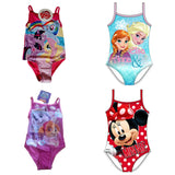 Girls Swimsuit swimming costume age 2-10 Baby Disney Minnie Shopkins Minion Paw