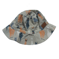 Llama Sun hat age 1-8 yrs beige blue orange summer cap