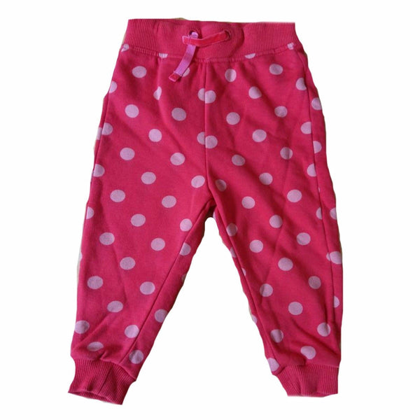 Girls Red Spot Jogging Bottoms ages 2-3 4-5 yrs joggers tracksuit bottoms