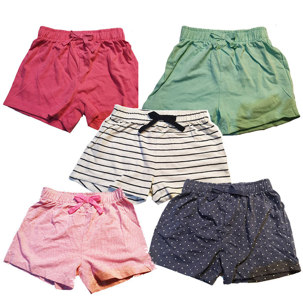 Girls 5 Pack Shorts age 6m-6 yrs