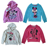 Girls Disney Minnie Mouse Pink Cream Blue Hoodie Jumper age 2 4 6 8 years - supercoolgifts