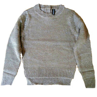 Girls Gold Sparkly knitted jumper age 6 8 10 12 flecked wool