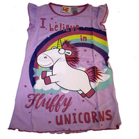 Girls Unicorn Nightie Nightwear age 3/4 5/6 7/8 purple