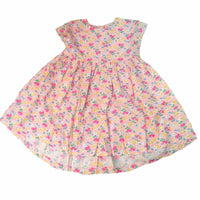 Girls Baby floral flower  Dress 100% Cotton 18/24m 2/3 3/4 years