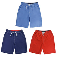 Boys Teens Red Blue Navy Swim Shorts Trunks Holiday Swimming 6-13 Years