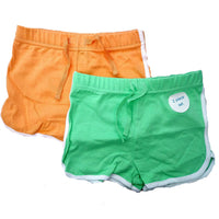 Girls 2 Pack of Shorts Green Orange age 3-10 years holiday summer sport