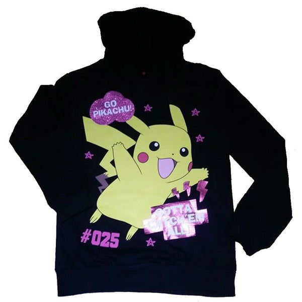Pokemon Long Sleeved Hoodie Top 9/10 11/12 13/14 15/16 yrs