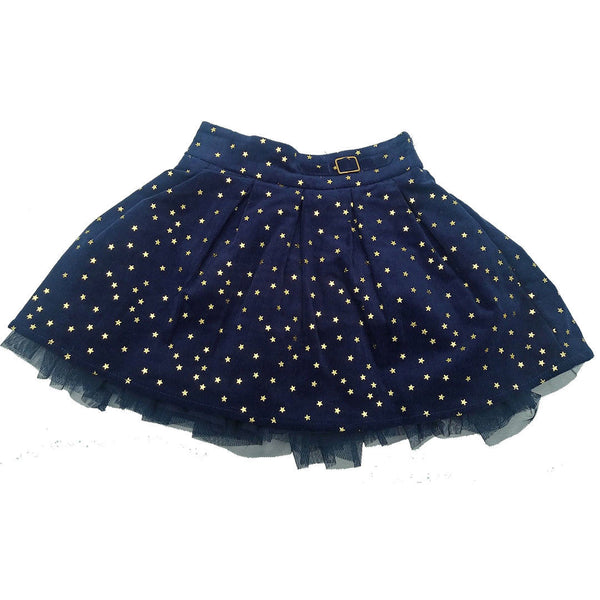 Girls Baby Navy Blue Gold Stars Skirt Cotton ages 12/18 18/24 2/3 3/4 4/5, 5/6
